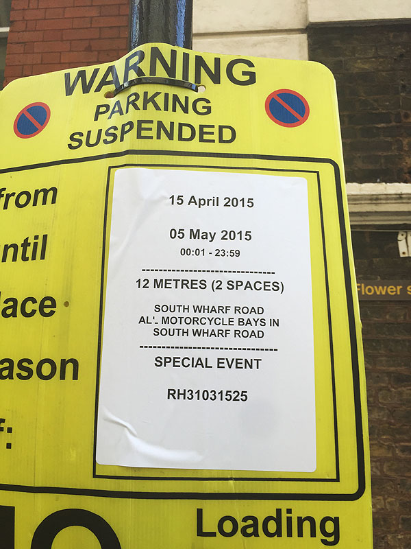 The accurate parking restrictions