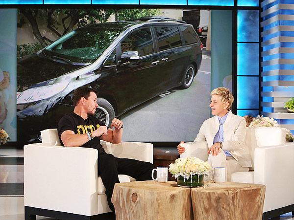 Mark Wahlberg minivan Ellen DeGeneres Show