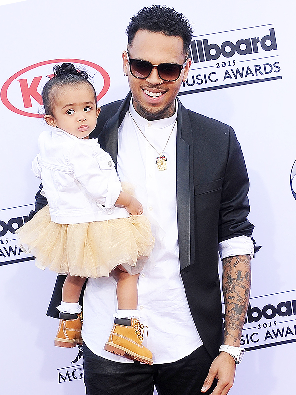 Billboard Music Awards 2015 Chris Brown daughter red carpet
