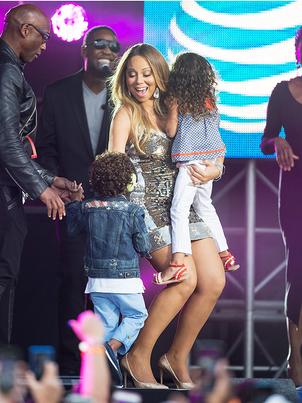 Mariah Carey Jimmy Kimmel Live twins