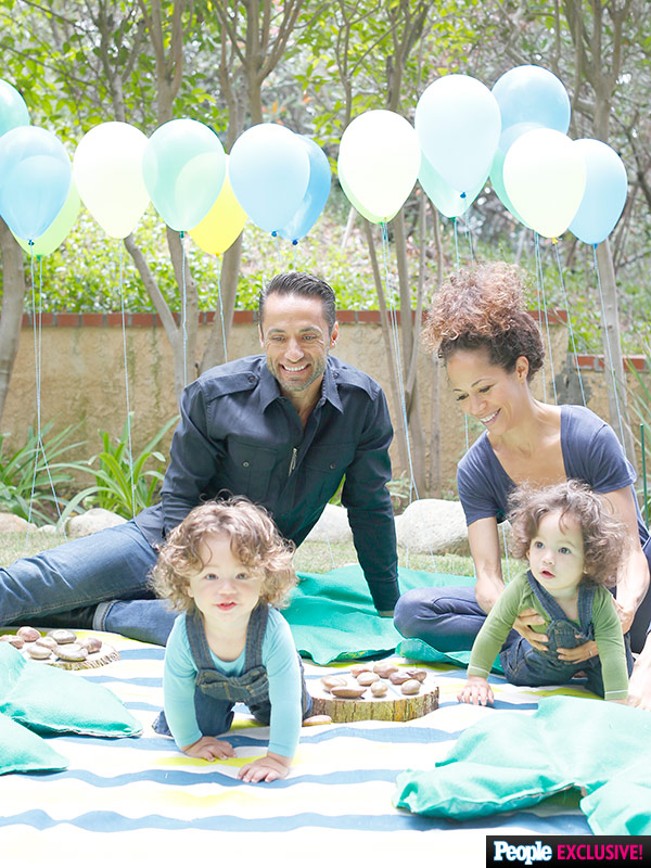Sherri Saum twins Michael John first birthday