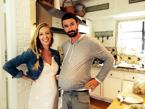 Brandon Jenner Leah pregnant belly