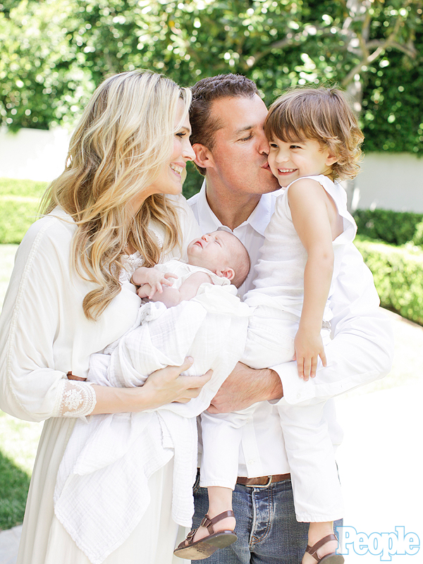 Molly Sims daughter son family photo