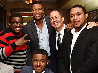Jerry Seinfeld: 'Fatherhood Is a Journey of Discovery'   Jerry Seinfeld, Michael Strahan