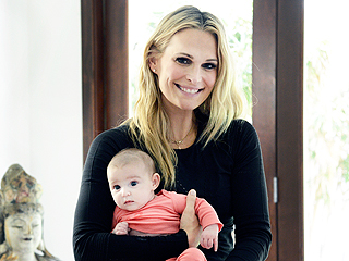 Watch Molly Sims Do Yoga – with Her 3-Month-Old Daughter!