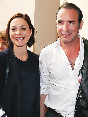 Jean Dujardin Nathalie Pechalat pregnant expecting third child