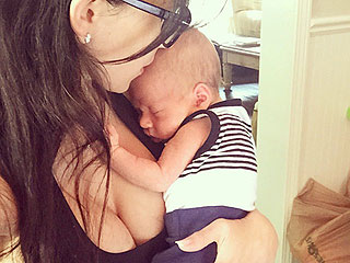Baldwin Baby! Hilaria Snaps a Selfie with Snoozing Son Rafael