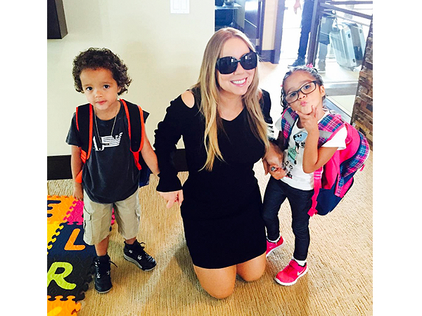 Mariah Carey twins Moroccan Monroe summer school