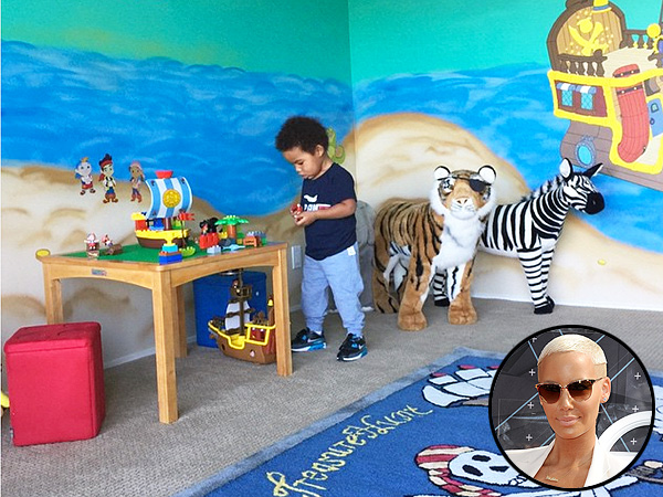 Amber Rose son Sebastian playroom
