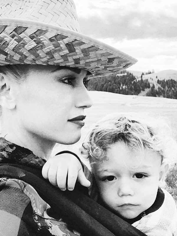 Gwen Stefani and son Apollo