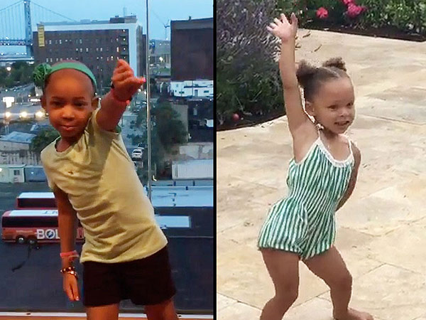 Leah Still Riley Curry Whip Nae Nae dance