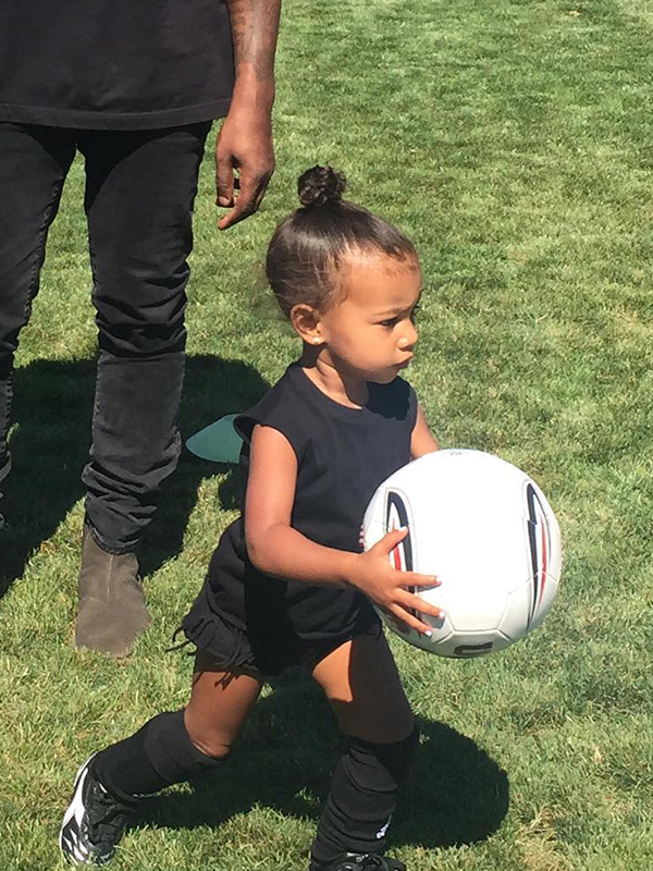 North West soccer practice Kim Kardashian West