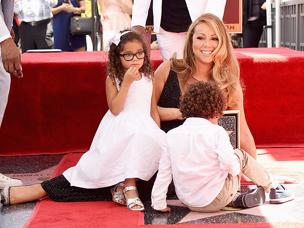 Mariah Carey twins Walk of Fame event