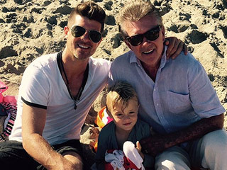 Robin Thicke Shares Fun Family Photo: 'Three Generations of Thickness!'