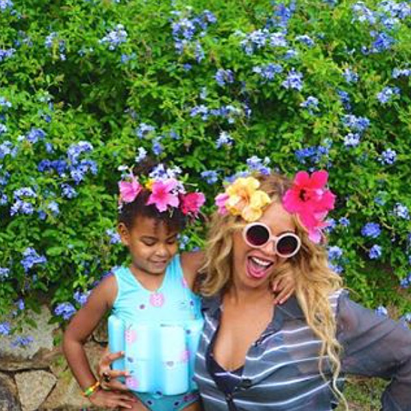 Blue Ivy and Beyoncé