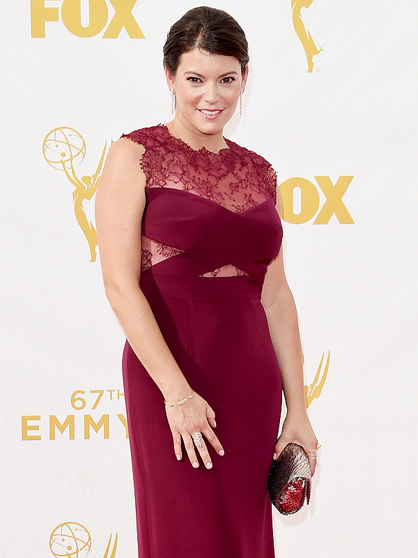 Gail Simmons Emmys 2015 red carpet