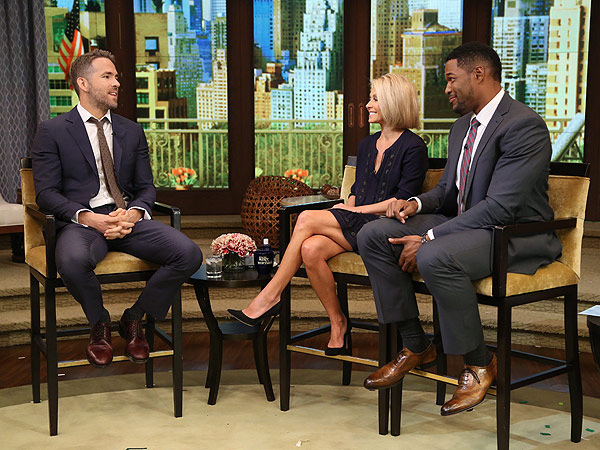 Ryan Reynolds Live with Kelly and Michael