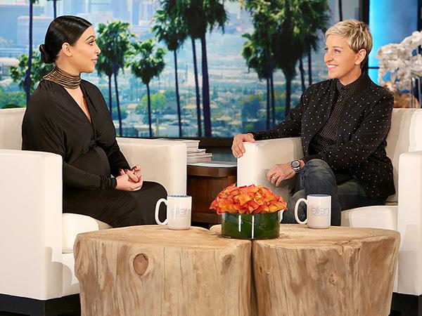 Kim Kardashian West pregnant Ellen DeGeneres