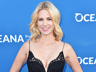 January Jones Says Her Son Wants to Swim with Sharks: 'He Has to Wait Until He's 10'