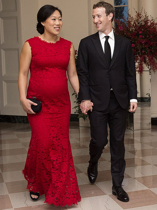 Mark Zuckerberg And Priscilla Chan At Chinese State Dinner