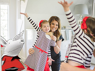 Mini Model! Tiffani Thiessen's Daughter Harper Helps Show Off New Olivia-Inspired Line