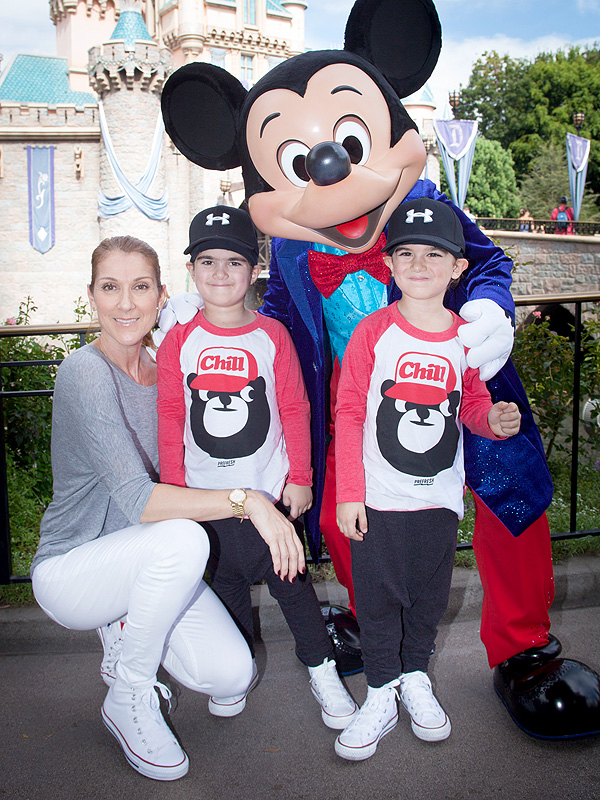 Celine Dion with twins