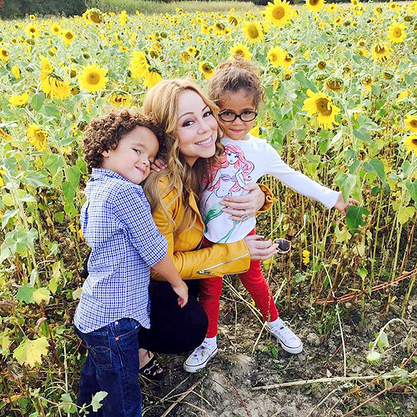 Mariah Carey with twins
