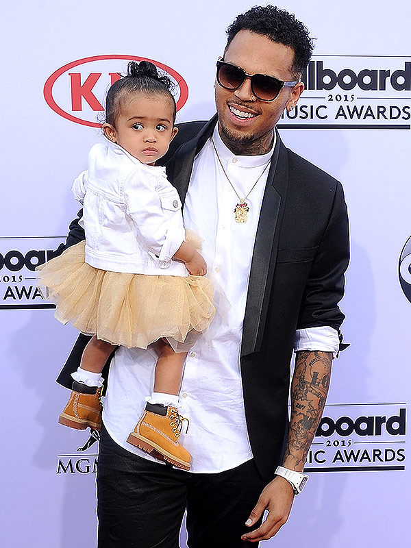 See Chris Brown Cuddled Up with Daughter Royalty on His New Album Cover