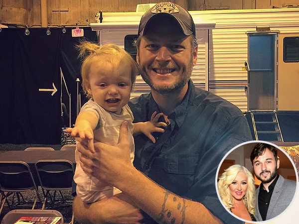 Blake Shelton Christina Aguilera Daughter Summer