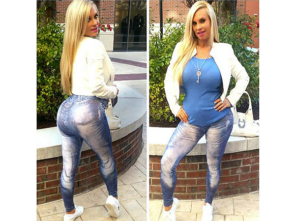 Coco Austin's maternity jeans