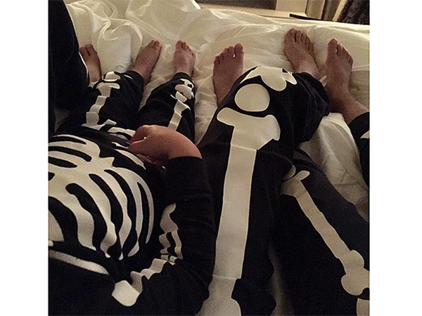 Kourtney Kardashian kids halloween pajamas