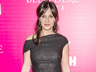 Zooey Deschanel Sparkles in First Red Carpet After Baby – See Her Off-the-Shoulder Look!