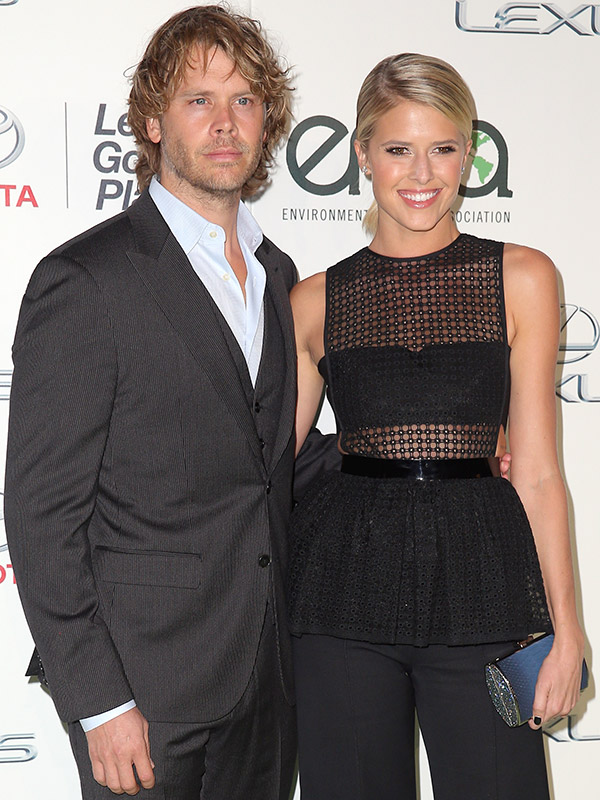 Eric Christian Olsen, Sarah Wright on Sleep Training Son ...