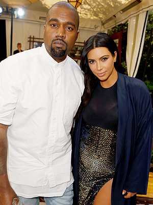 Kim Kardashian Kanye West welcome son