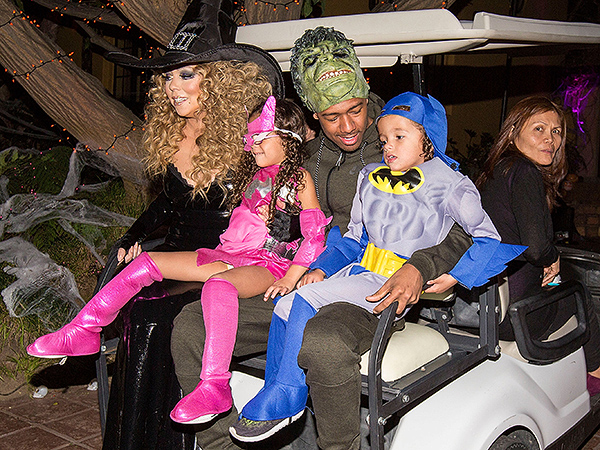Mariah Carey Nick Cannon Halloween 2015