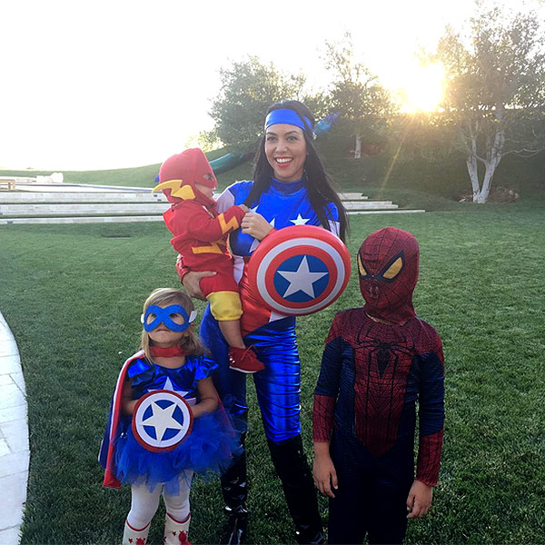 Kourtney Kardashian celebrates Halloween with her three children