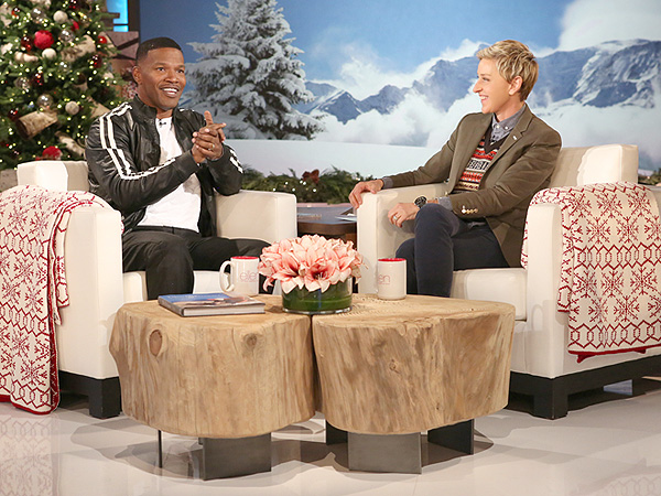 Jamie Foxx and Ellen DeGeneres