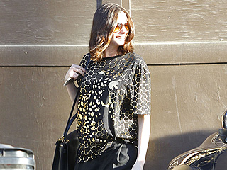 All Smiles! Pregnant Anne Hathaway Shows Off Gorgeous Glow While Out in L.A.