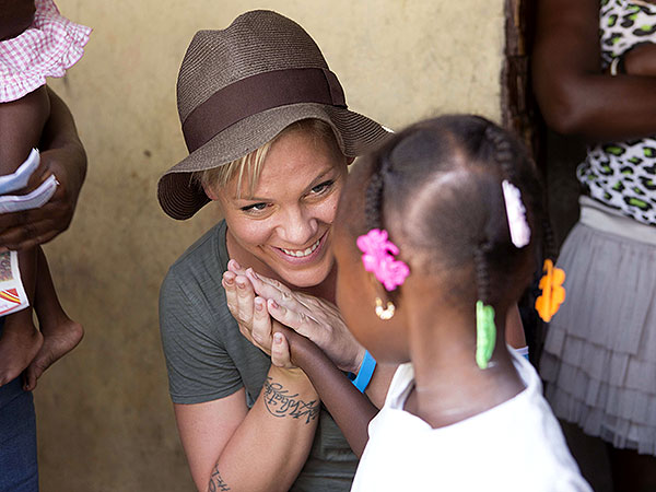 Pink UNICEF ambassador
