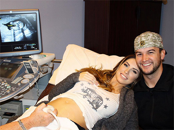 Katherine Webb AJ McCarron expecting son