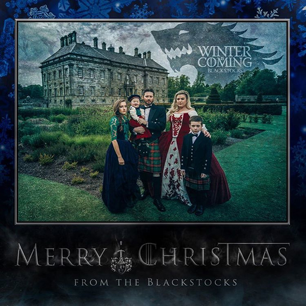 Kelly Clarkson family holiday card