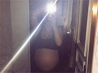 Kim Kardashian West Gets Impatient for Her Baby Boy to Arrive: 'Ready Whenever You Are!'