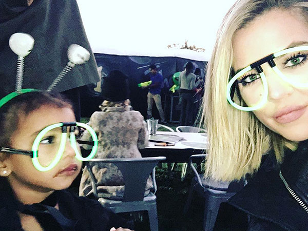 Khloe Kardashian North laser tag Instagram