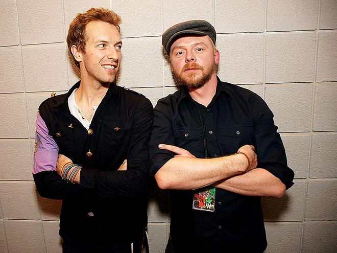CHRIS MARTIN & SIMON PEGG photo | Chris Martin, Simon Pegg