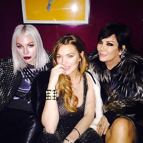 LINDSAY LOHAN photo | Kris Jenner, Lindsay Lohan