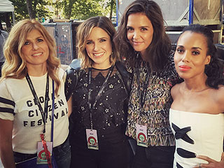 Backstage at the Global Citizen Festival with Sophia Bush (and Beyoncé!)