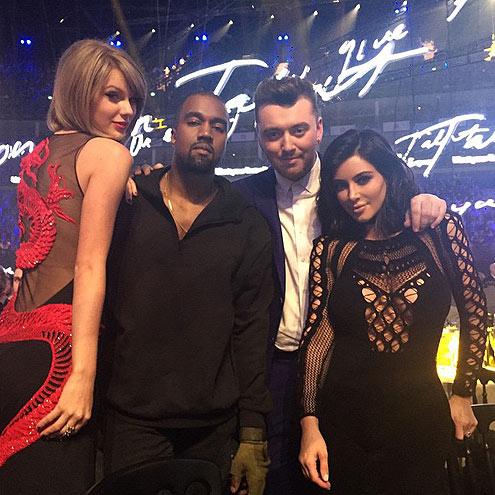 KIM & TAYLOR photo | Kanye West, Kim Kardashian, Sam Smith, Taylor Swift