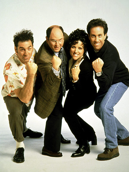 SEINFELD photo | Seinfeld, Jason Alexander, Jerry Seinfeld, Julia Louis-Dreyfus, Michael Richards