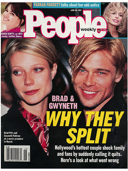 1997: GWYNETH PALTROW AND BRAD PITT CALL IT QUITS