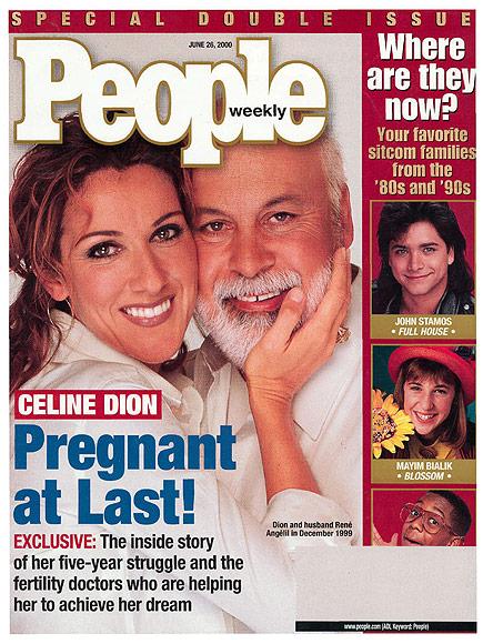 2000: CÉLINE DION ANNOUNCES SHE'S EXPECTING A 'LITTLE MIRACLE' photo | Celine Dion